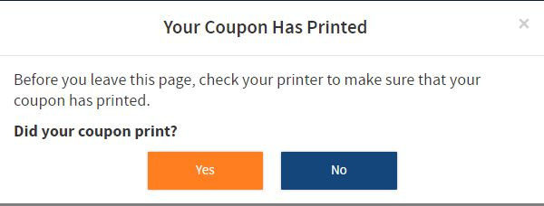 Coupon Does Not Print Entertainment