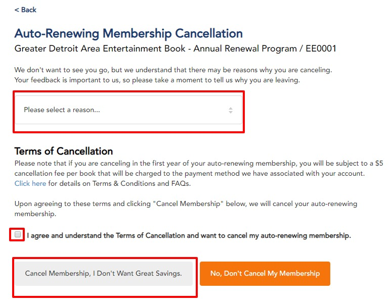 How do I cancel my Annual Renewal membership? | Entertainment